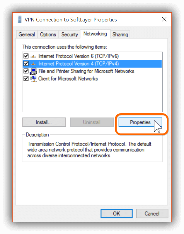 VPN Connection in Windows 10 -2