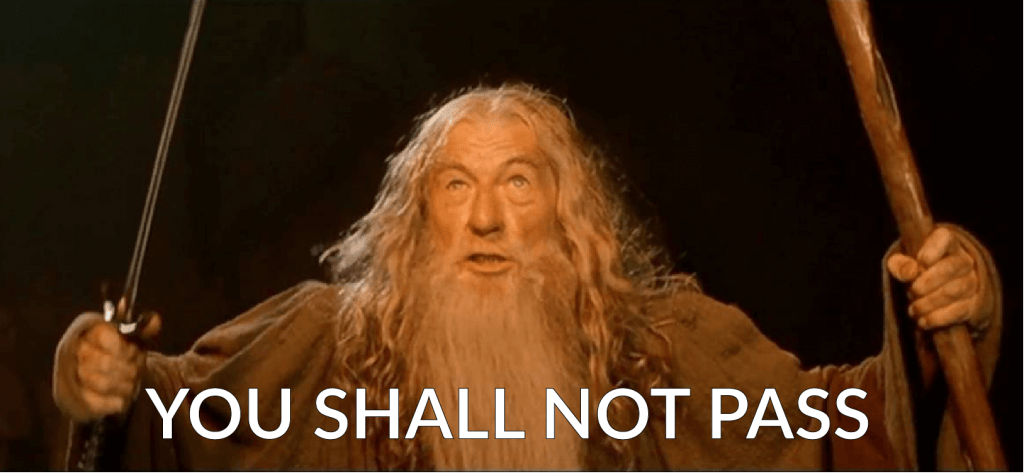 Conditional access: You Shall Not Pass Image